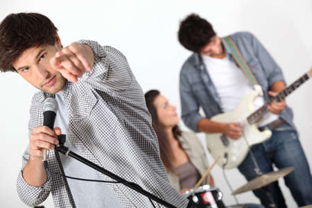 Group of musicians Stock Photo - 16236967