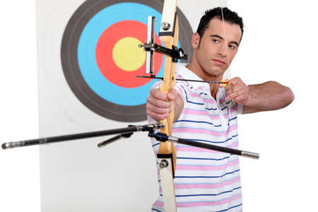 Portrait of a professional archer photo