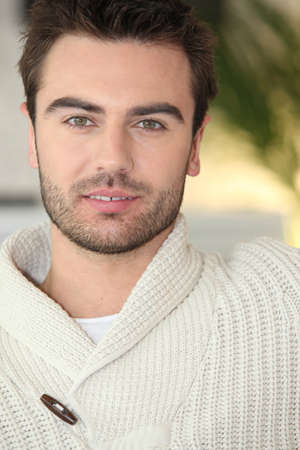 sexy young man: Man in a cream jumper