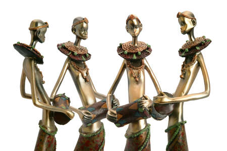 bongos: African figurines holding drums