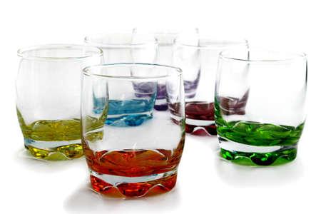 bar ware: Colorful glassware