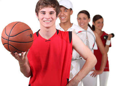 Sports players photo