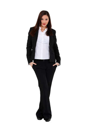 trouser: Businesswoman in a trouser suit