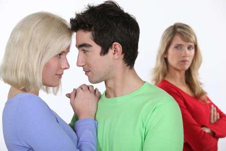 Woman jealous of couple Stock Photo - 16336878