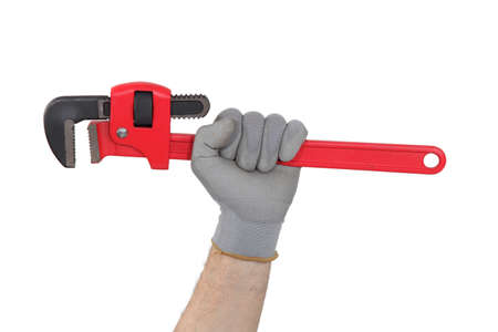 hand wrench: Adjustable wrench Stock Photo
