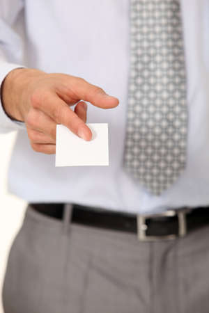 Executive with a blank businesscard Stock Photo - 16336760