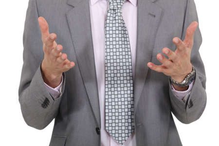 closeup on businessman Stock Photo - 16336783
