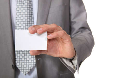 individualized: A blank business card Stock Photo