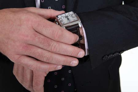 wrist cuffs: Male wearing wrist watch