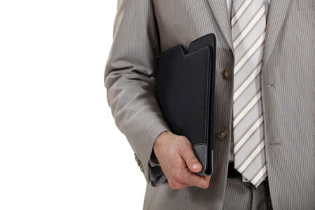 Businessman holding folder Stock Photo - 16336828