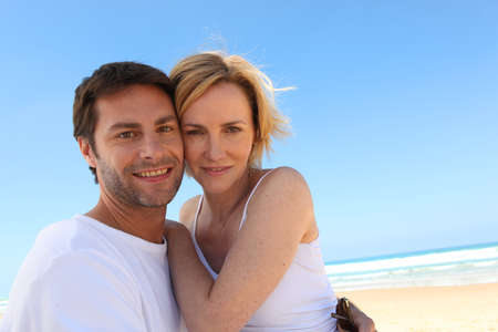 35 39 years: Couple on a blue sky day Stock Photo