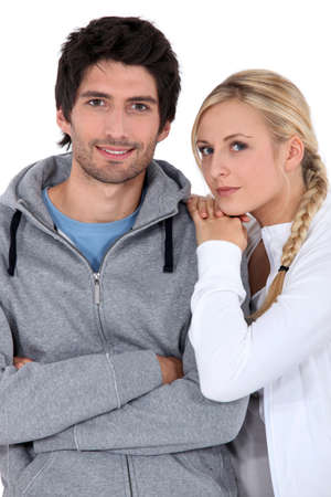 tracksuit: Couple in tracksuit Stock Photo