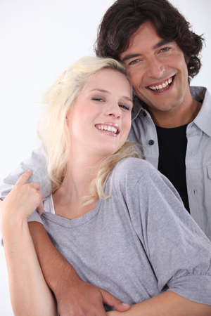 Happy couple embraced Stock Photo - 16411280