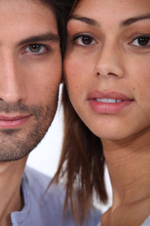 Close-up of couple photo