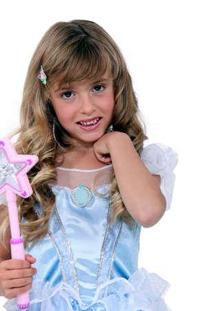 niños vistiendose: Niña en un vestido de hada Foto de archivo