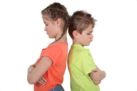 jealous: Siblings sulking