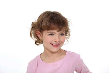 5 6 years: Smiling little girl Stock Photo