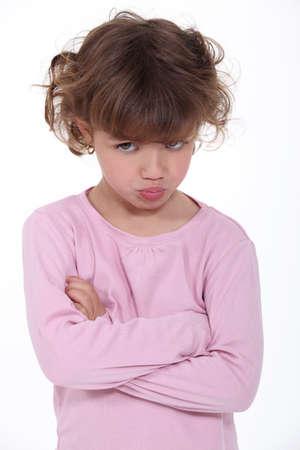 rebellious: Sulky little girl