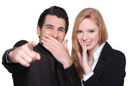 Couple laughing at you Stock Photo - 16411669
