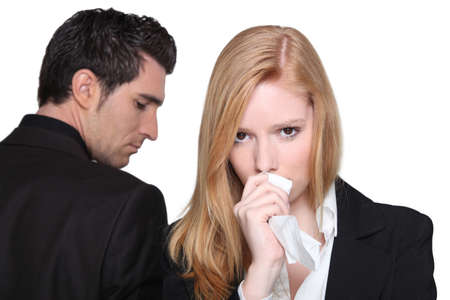 unfaithful: Man and woman arguing