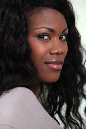 Profile shot of black female