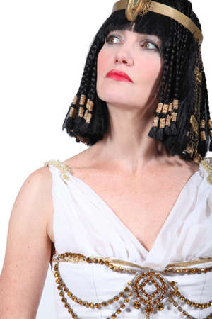 imperious: Woman in Cleopatra costume Stock Photo