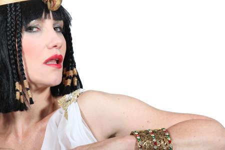 toga: retrato de una mujer en traje egipcio