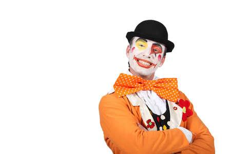 clown circus: Clown smiling