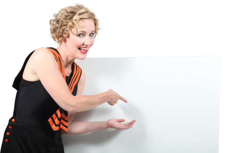 sailor girl: Sailor girl pointing at white board
