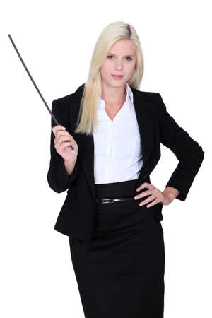 Woman with baton Stock Photo - 16472313