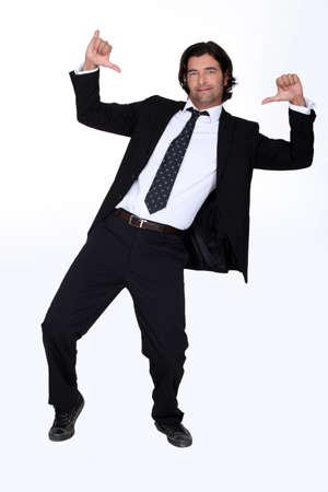 dancing man: Arrogant businessman