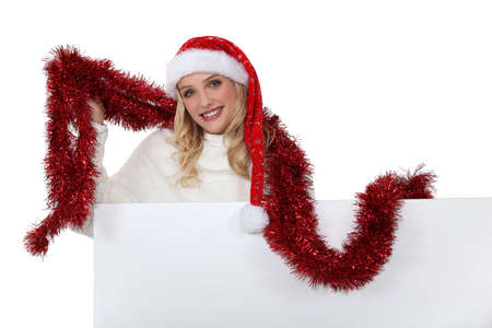 mrs  claus: Woman getting into the Christmas spirit