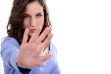 authoritative woman: Camera shy