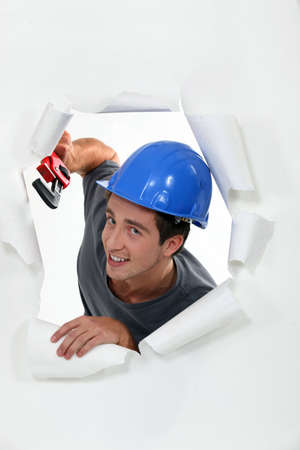 Man with helmet Stock Photo - 16472154