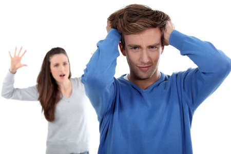 nagging: Couple having argument