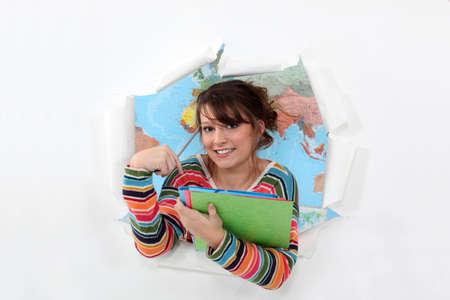 Studente in geografia