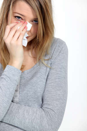 sniffles: He is such a jerk  Stock Photo