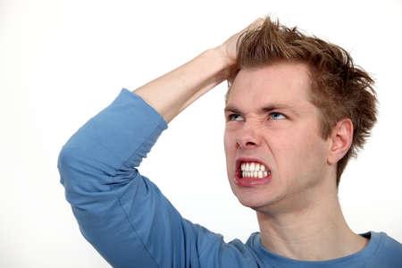 enrage: angry man shouting