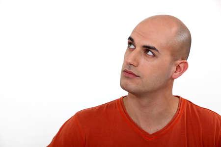 bald man: Bald man thinking