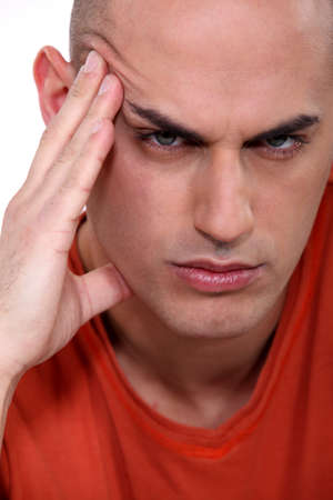 vindictive: Close-up shot of an angry man