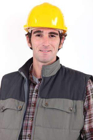 journeyman technician: Portrait of construction worker