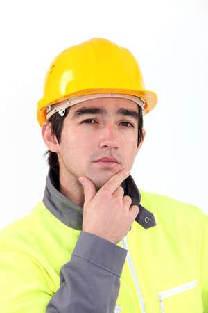 mistrust: A pensive tradesman