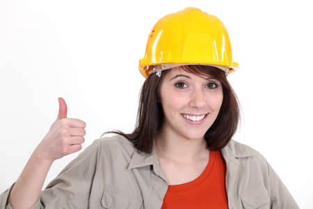 Positive female builder photo