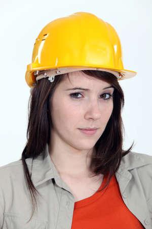 skepticism: A suspicious construction worker