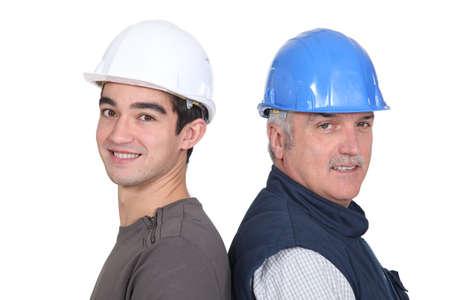 workmates: male workmates Stock Photo