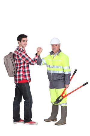 foremaster: Master greeting apprentice