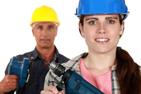 saz: Male and female laborers