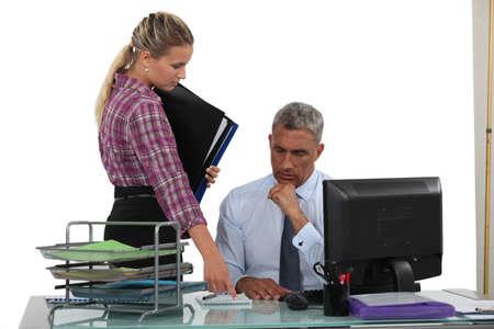reporting: secretary reporting to her boss