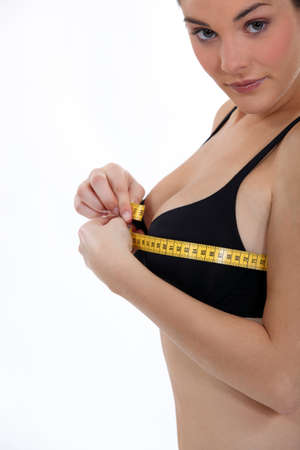 Woman measuring chest Stock Photo - 16548146