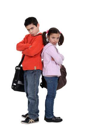 molesto: alumno de secundaria descontento